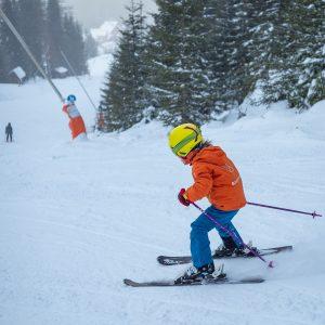 Superbaby, baby, dieťa na lyžiach
