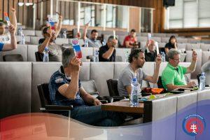 1. riadna konferencia ZSL, o.z., hlasovanie