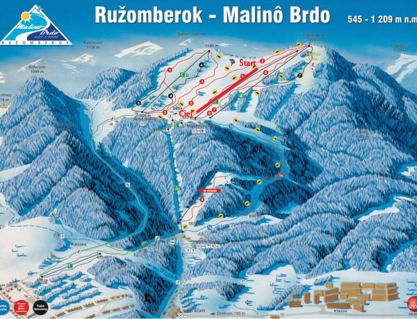 Ružomberok - Malinô Brdo mapa ZSL Volkl Cup 4. kolo