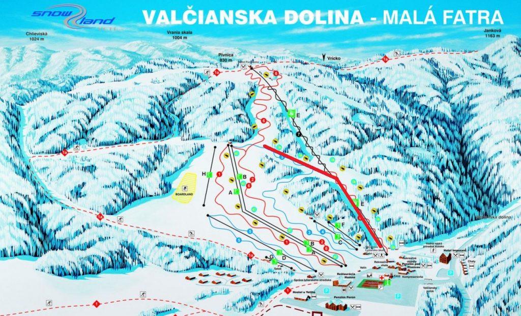 valčianska dolina mapa - rossignol cup